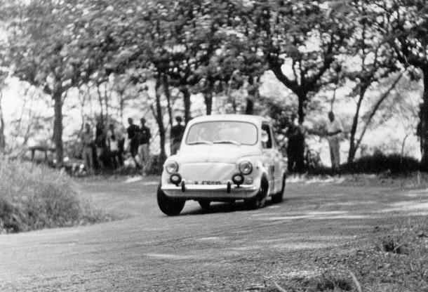 SEAT 600 Nardi 850. Subida a San Marcial 1968.