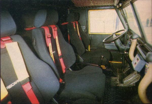 Pegaso 7223 Proto. Cabina para 3 ocupantes