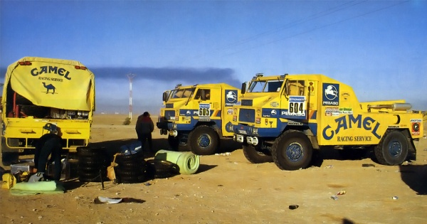 Equipo Pegaso Camel. Dakar 1.988