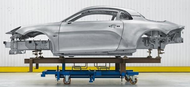 Chasis monocasco de Aluminio. Alpine A110