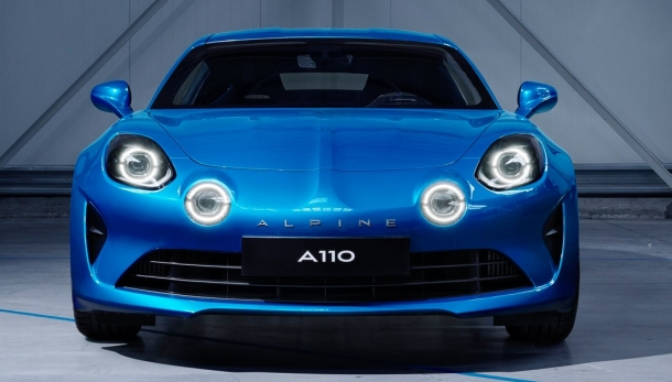 Alpine A110 2017. Vista frontal