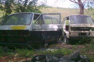 Volkswagen T3 abandonadas a medio restaurar