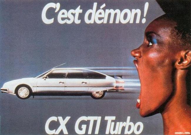 Anuncio del Citroën CX con Grace Jones