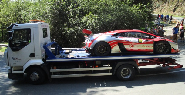 Fombona. Lamborghini Huracán. Accidente subida a Jaizkibel