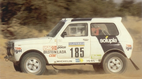 Lada Niva Dakar 1987 Jacky Ickx