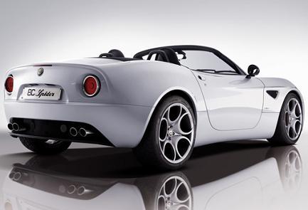 Alfa Romeo 8C competizione Spider.