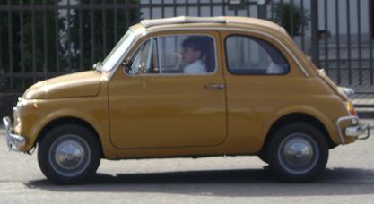FIAT 500. Vista lateral