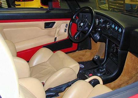 Alfa SZ. Vista Interior.