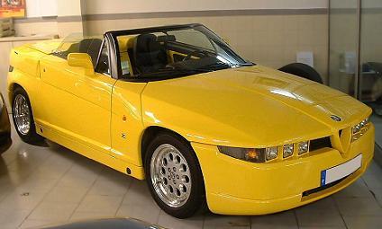 Alfa-Romeo RZ descapotable. Vista frontal.