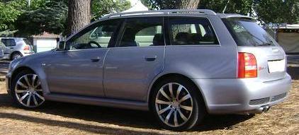 Audi RS4. Vista Trasera.