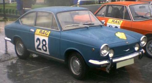 SEAT 850 Coupé. Vista frontal.