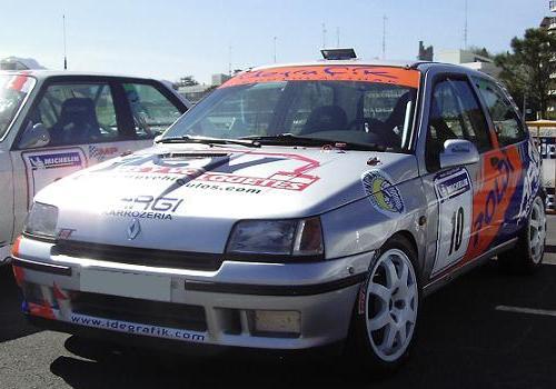 Txema Uzkudun e Iker Iturrioz. Renault Clio Williams. Rally Sprint Hondarribia 2008.