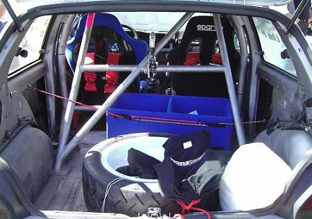 Interior Renault Clio Williams. RallySprint Hondarribia 2008