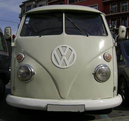 Volkswagen T1. Vista frontal.