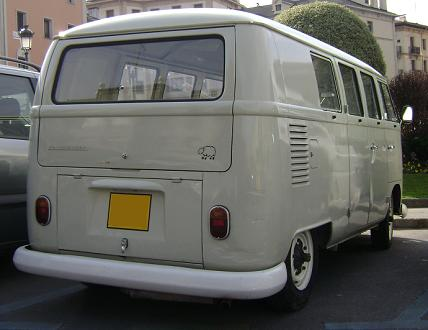 Volkswagen T1. Vista trasera.