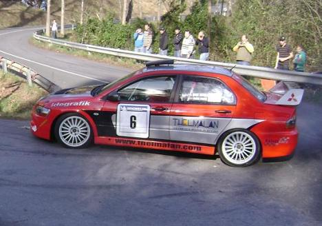 IV RallySprint de Hondarribia 2010. Mikel Urkiola Mitsubishi Evo IX.