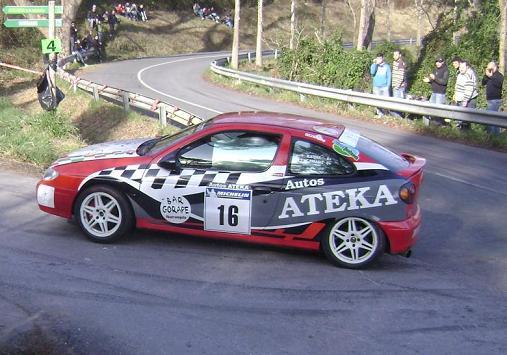 IV RallySprint de Hondarribia 2010. Rafa Ateka Renault Megane Coupé.