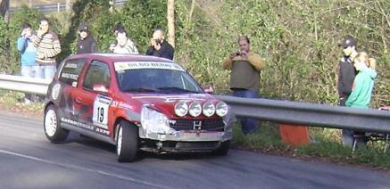 IV RallySprint de Hondarribia 2010. Mario Pérez Renault Clio Sport.