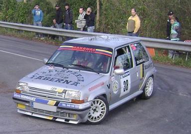 IV RallySprint de Hondarribia 2010. Xabier Agirre Renault 5 GT Turbo