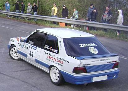 IV RallySprint de Hondarribia 2010. Ismael Oteiza Peugeot 309 GTI 16v