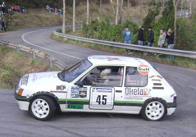 IV RallySprint de Hondarribia 2010. Maikel Iriarte Peugeot 205 GTI.