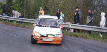 Jon Etxeberria IV Rally-Sprint de Hondarribia 2010. Peugeor 205 Rally