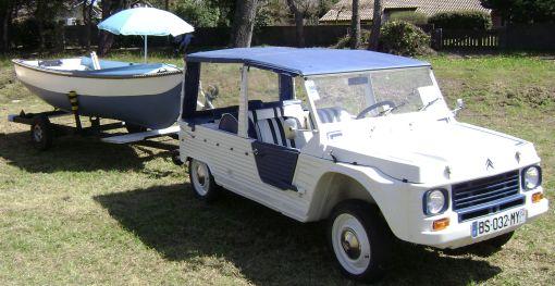 Citroën Mehari Azur con remolque