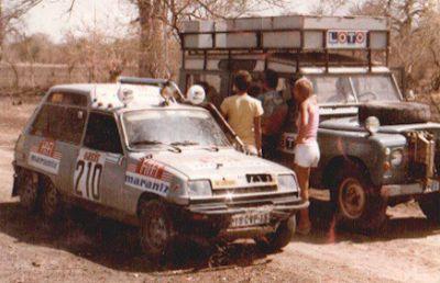 Renault 5 6x6 Léotard. Paris Dakar 1.980.