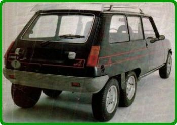 Renault 5 Alpine 6x6 Leotard