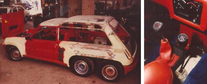 Construcción Renault 5 Turbo bimotor Léotard
