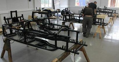 Fabricación del Morgan 3 wheeler.