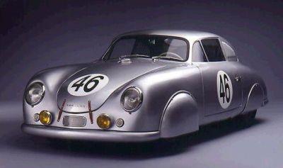 Porsche 356 SL Coupé. Carenado con aluminio sobrante de aviones.