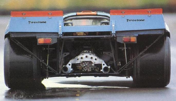 Porsche 917. Vista Trasera.