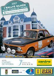 Cartel I Rally Silken Hoten Ciudad de Vitoria.