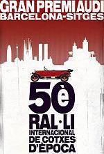 Cartel del 50 Rally internacional Barcelona Sitges.