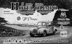 Cartel del II Ralye Clásico Hotel Olimpo.