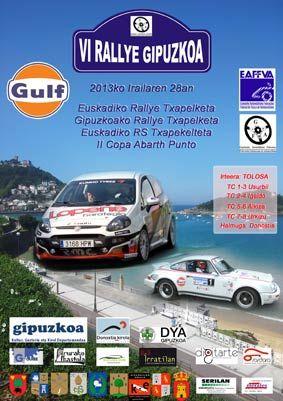 Cartel Rallye de Gipuzkoa 2013