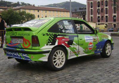 Retorno de Markos Landa a la competición. Rallye Gipuzkoa.