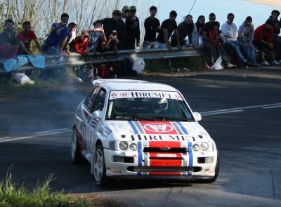 Iban Tarsicio e Iñigo Peña. Ford Escort Cosworth