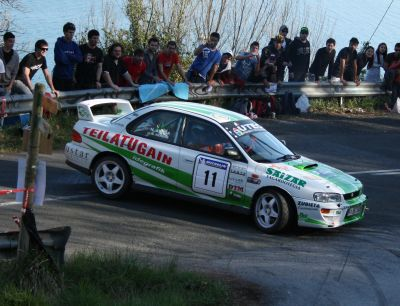 Gorka Eizmendi y Nerea Atxega. Subaru Impreza GT