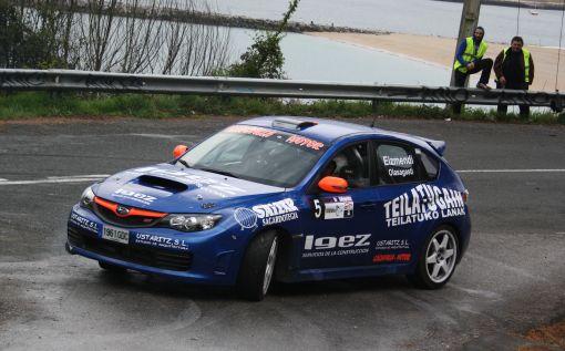 Gorka Eizmendi. Subaru Impreza N14. RallySprint de Hondarribia 2013