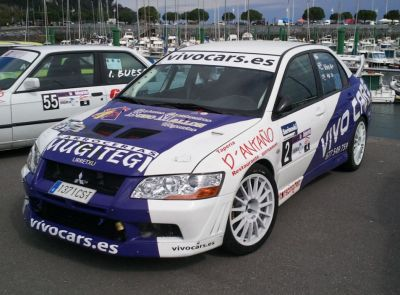 David Ardions, Mitsubishi EVO VII. RallySprint Hondarribia.