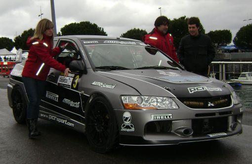 Mitsubishi EVO IX. Jon Davoz. RallySprint de Hondarribia