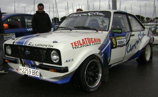 Iñaki Alberdi. Ford Escort MKII. RallySprint de Hondarribia