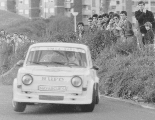 Vilariño SIMCA Rallye en la curva del Cementerio