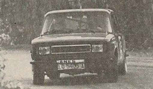 Juan A. Breda en el Rallye Vertiz de 1.980
