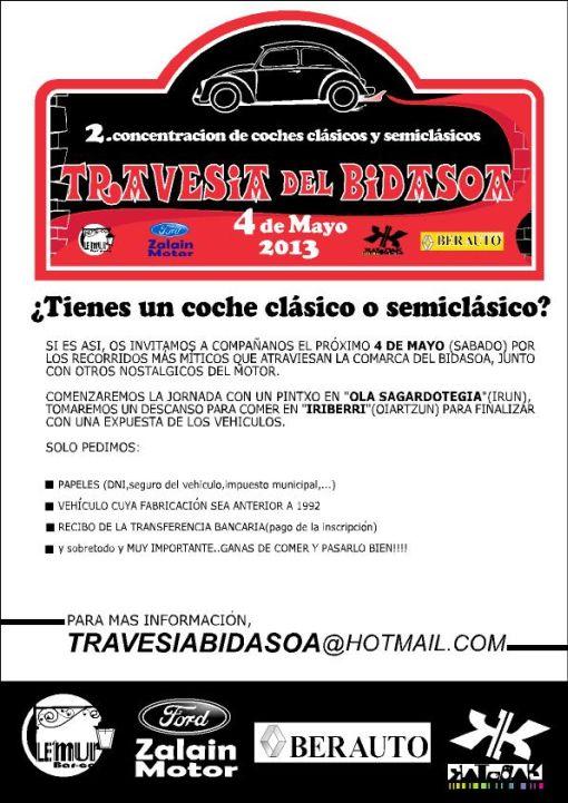 Cartel II Travesía del Bidasoa 2013